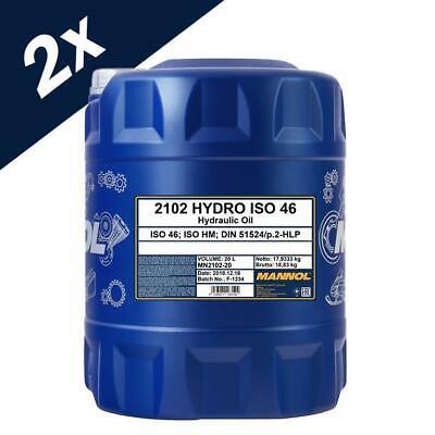 Mannol ISO 46 Hydraulic Fluid Oil 40L - German Hi Spec DIN 51524