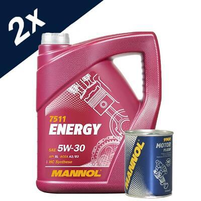 10L Mannol ENERGY  5w30 Fully Synthetic Engine Oil + Free Engine Flush