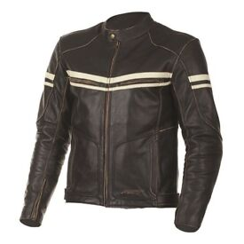 RST Brown Leather Jacket (42 Chest) (Retro)