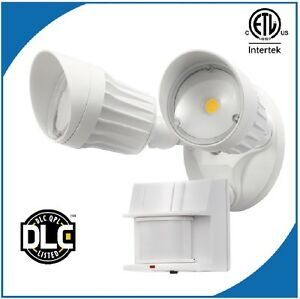 Two Head LED Motion Sensor Light 120V 20W 5000K