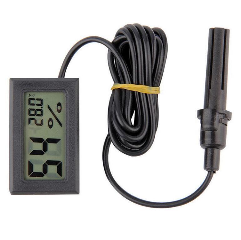 Electronic Mini Digital LCD Temperature Meter Thermometer Tester Clock