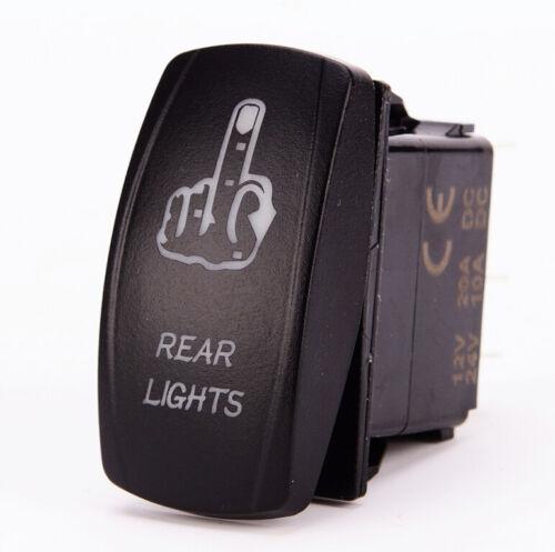 Laser Rocker Switch Finger Rear Lights Led Light On-Off ON OFF 20A 12V Truck Car