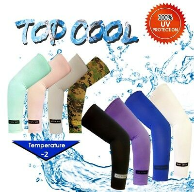3 Pairs Cooling Sport Outdoor Arm Stretch Sleeves Sun Block UV Protection Covers