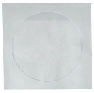 Best 1000 Pack White Cddvd White Paper Sleeves Cover With Flap Clear Window