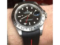 Mint Rolex Explorer II 16750, Under Warranty, Recent Service, Refurb, New Crystal and Crown