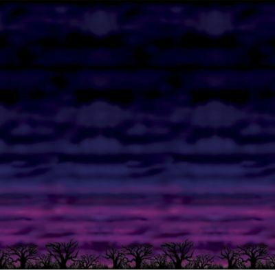 Eerie Halloween Background (HUGE 30ft SPOOKY SKY SCENE SETTER BACKDROP EERIE NIGHT HALLOWEEN THEMED)