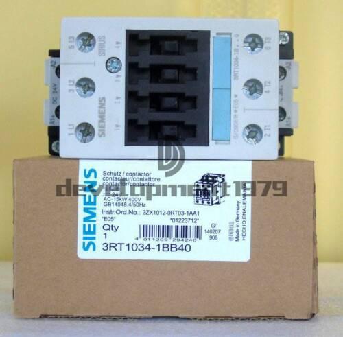SIRIUS POWER CONTACTOR SIEMENS 3RT1034-1BB40 NEW #112069