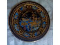 "KRETE Collectible 10"" Plate Hand Made in Greece 24K Gold"