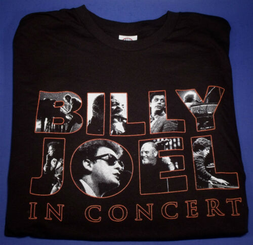 NOS 2018 BILLY JOEL IN CONCERT DOUBLE SIDED TOUR T-SHIRT 5 COLOR PRINT LARGE