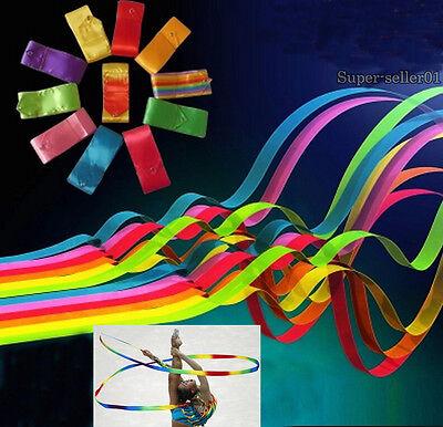 Colors Ribbon Good Dance Ribbon Gym Art Gymnastic Ballet Streamer Twirling 1Pcs - Dance Ribbon