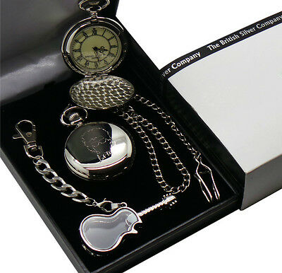 BOB DYLAN Signed Pocket Watch Autographed and Glass Guitar Keyring Gift Case