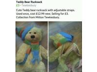 Cute Teddy Bear Rucksack