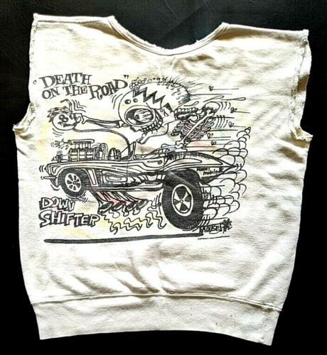 Stanley Mouse Sweatshirt 1960s Death on the Road Hotrod Weirdo Art