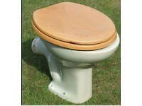 Green WC Toilet Pan & Seat Stamped Made In England No 2 (used)