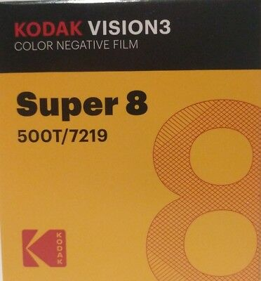 Kodak Super 8 500T/7219 VISION 3 COLOR Negative *BRAND NEW FACTORY FRESH*