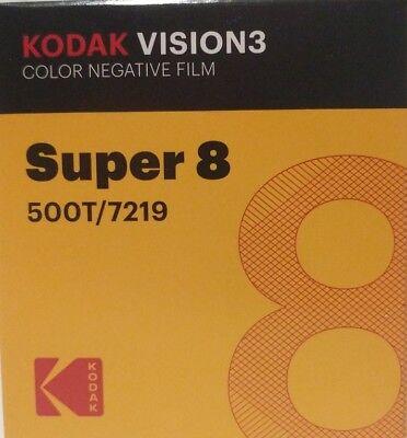 Kodak Super 8MM film 50'cartridge 500T/7219 VISION 3 COLOR Negative *Brand New*