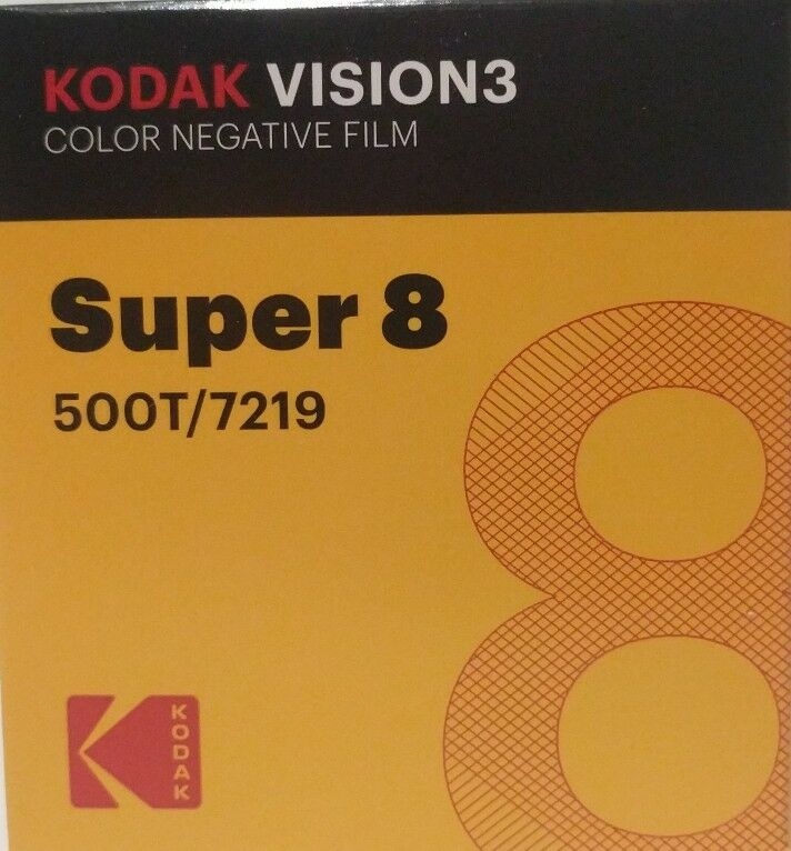 Kodak Super 8 500T/7219 VISION 3 COLOR Negative *BRAND NEW FACTORY FRESH*