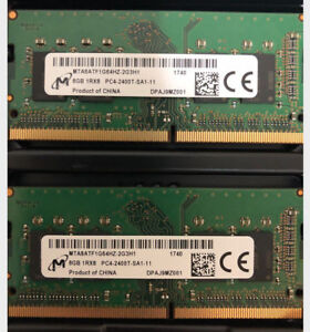 16GB (2x8GB) 2400MHz DDR4 Laptop Memory