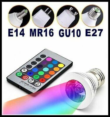 GU10 MR16 E14 E27 RGB Magisch Licht LED Glühbirne 3W Farbwechsel + Fernbedienung (Magische Glühbirne)