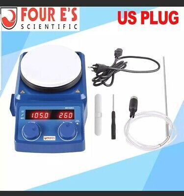 Brand New Four Es 5in. Led Digital Hotplate Magnetic Stirrer Ceramic Coat Plate