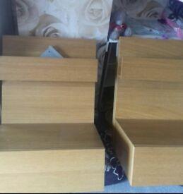 2 ikea bedside units with brackets