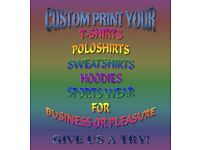 VARIETY OF PRINTED T-SHIRTS OR CUSTOMISE YOUR OWN DESIGN!