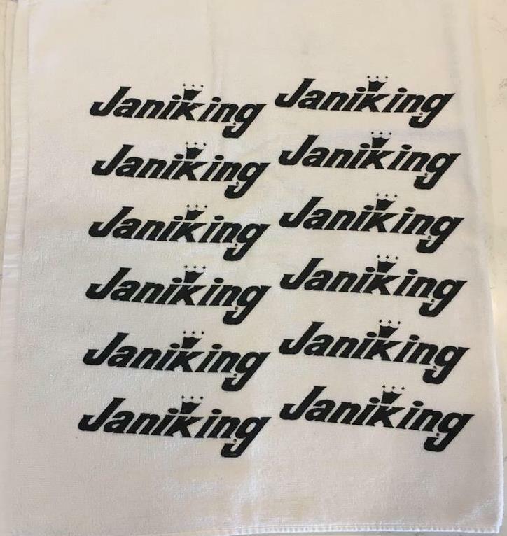 "USED PGA TOUR ""JANIKING"" GOLF TOWEL-WHITE"