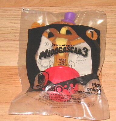 McDONALDS HAPPY MEAL TOY MADAGASCAR 3 ALEX TOY BRAND NEW