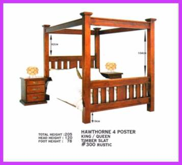 New 4 Poster Canopy Bed Frames. Rent To Keep Option.