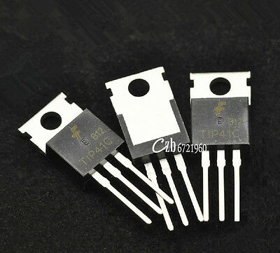10pcs Tip41c Tip41 Npn Transistor 100v 6a To-220
