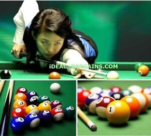 Billiard 16 Piece  Pool Ball Deluxe Set - standard size - FREE SHIPPING