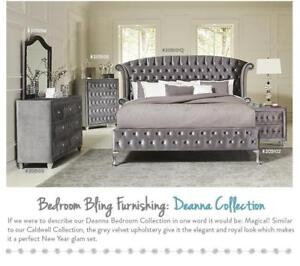 Spice up your bedroom with this Bling Coaster Deanna 5 Piece Bedroom Set