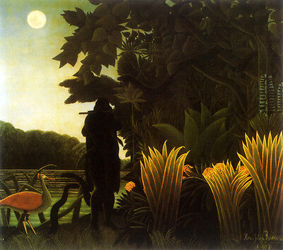 The Snake Charmer  by Henri Rousseau   Giclee Canvas Print -