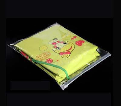 Clear Plastic Storage Garment Bag Zip Lock Reclosable Grip Seal Closure Zipper