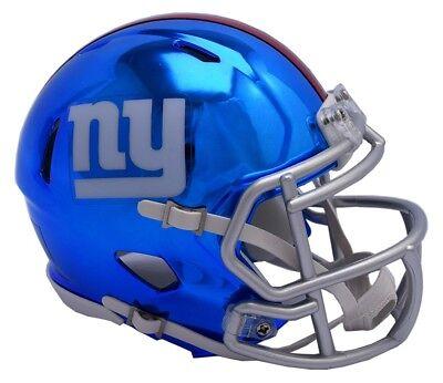 NFL Football Helm NEW YORK GIANTS NY Mini Speed Chrome Footballhelm Helmet