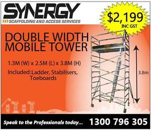 1.3m x 2.5m x 3.8m ALUMINIUM MOBILE SCAFFOLD Parramatta Parramatta Area Preview