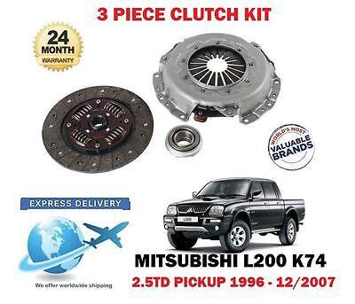 MITSUBISHI L200 K74 2.5TD CLUTCH KIT 3 PART 2.5 TD 4X4 8V 4D56T 90 100 115 135