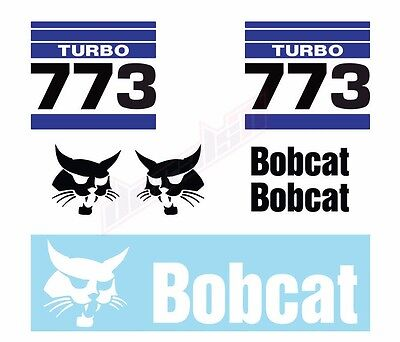 Bobcat 773 V2 Turbo Skid Steer Set Vinyl Decal Sticker - Free Shipping