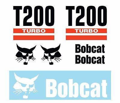 Bobcat T200 Skid Steer Set Vinyl Decal Sticker - Free Shipping