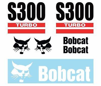 Bobcat S300 Skid Steer Set Vinyl Decal Sticker - Free Shipping