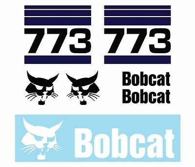 Bobcat 773 Skid Steer Set Vinyl Decal Sticker Aftermarket