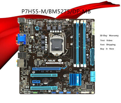 Motherboard  for ASUS P7H55-M BM5275 LGA1156 DDR3 MicroATX with I/O Shield for sale  China