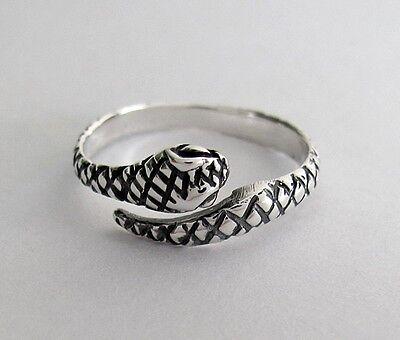Sterling Silver snake size large adjustable soft fit toe ring