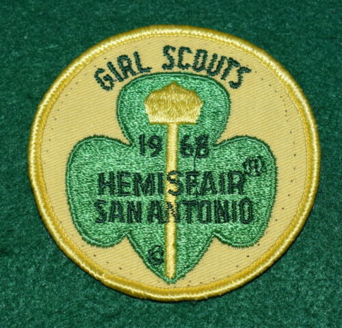 GIRL SCOUT PATCH - 1968 HEMISFAIR - SAN ANTONIO