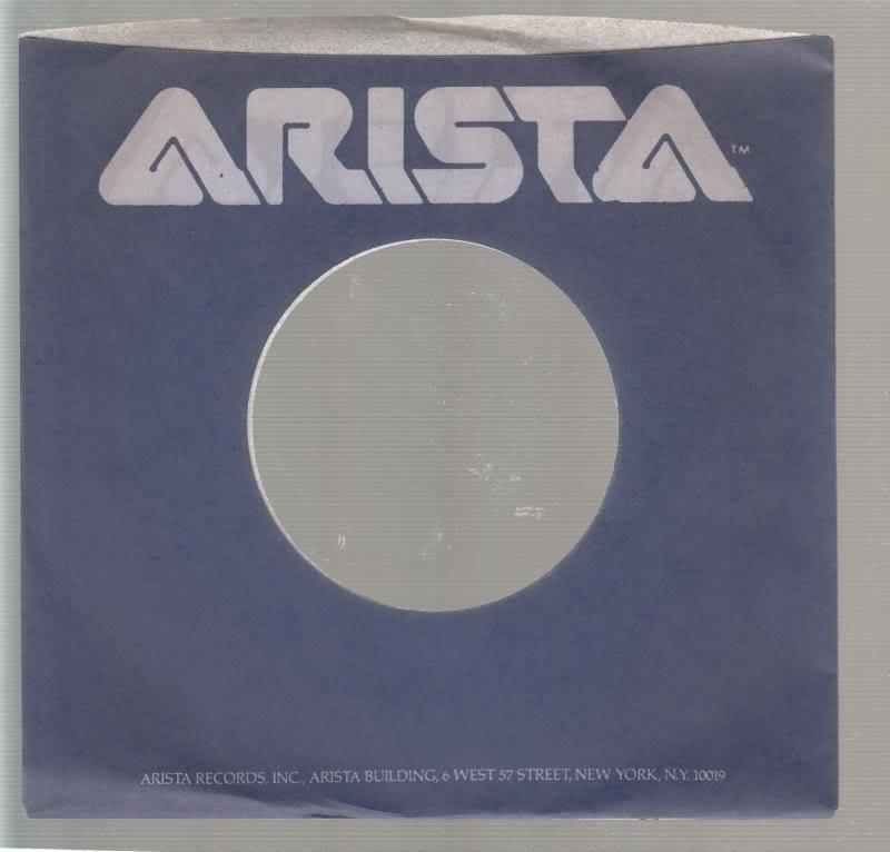 Company Sleeve 45 Arista Blue W/ Grey Writing On