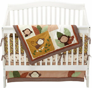Carters Monkey Crib Set - Great Condition!