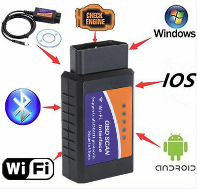 WIFI ELM327 Mini OBD OBD2 Car Code Reader Scanner Tool For iPad Android IOS for sale  Shipping to South Africa