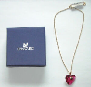 SWAROVSKI HEART NECKLACE BRAND NEW BOXED CUT CRYSTAL WITH TAG