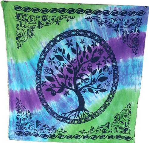 """Tree of Life Altar Cloth 36"""" x 36"""" Wiccan Witchcraft Supply Store"""