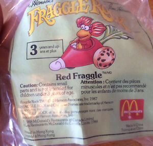 VINTAGE 1988 MCDONALD'S TOY RED FRAGGLE ROCK CAR NEW Gatineau Ottawa / Gatineau Area image 1